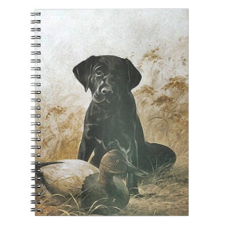 Journal Book Vintage Labrador Puppy Bird Dog Decoy