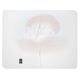 journal with cherry tree