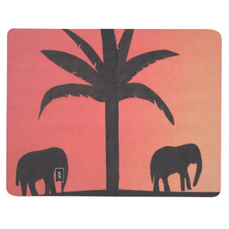 Journal with Elephant Design