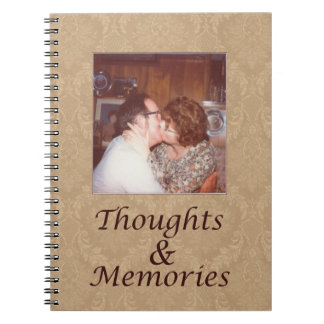Journal with vintage photo, thoughts and memories notebooks