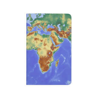 Journal World Map Purple Inside Lined Paper