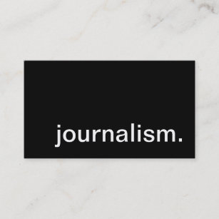 Journalism business cards profile cards zazzle ca journalism business card reheart Choice Image