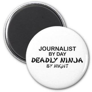 Journalist Deadly Ninja by Night 2 Inch Round Magnet