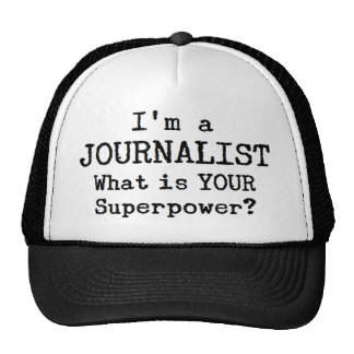 journalist trucker hat