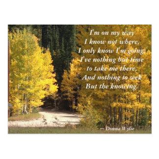 "Journey - ""I'm On My Way"" Postcard"