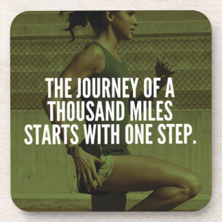 Journey Of A Thousand Miles - Workout Inspiration Coaster
