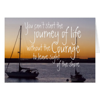 Journey of Life Across the Shore Card