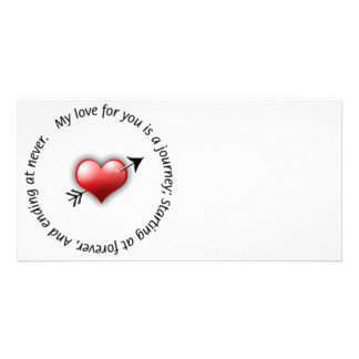 Journey Of Love - Valentines Day Photo Card