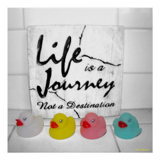 """Journey"" Rubber Duck Poster"