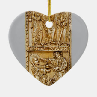 Journey to Emmaus and Noli Me Tangere Ceramic Heart Ornament