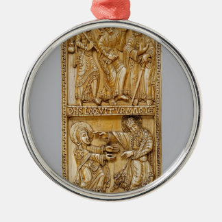 Journey to Emmaus and Noli Me Tangere Metal Ornament