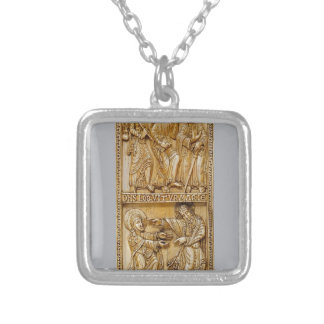 Journey to Emmaus and Noli Me Tangere Silver Plated Necklace