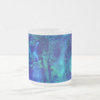 Journey to Neverland Frosted Glass Coffee Mug