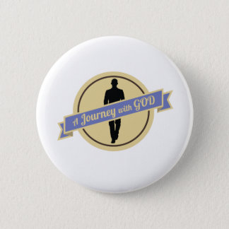 Journey With God With Man Walking (Button) 2 Inch Round Button