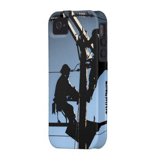 Journeyman Lineman iPhone 4/4s cover-BLUE