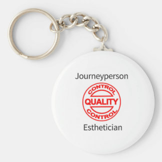 Journeyperson Esthetician Basic Round Button Keychain