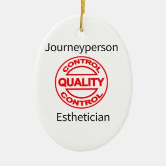 Journeyperson Esthetician Ceramic Oval Ornament