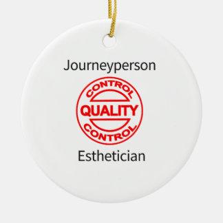 Journeyperson Esthetician Round Ceramic Ornament