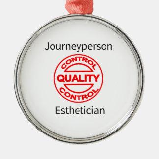 Journeyperson Esthetician Silver-Colored Round Ornament