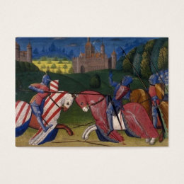 Art history business cards business card printing zazzle ca jousting knights business card reheart Choice Image