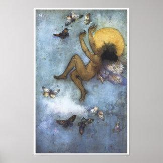 Joy 1892 Vintage Fairy Painting Poster