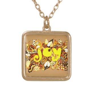 Joy 2 gold plated necklace