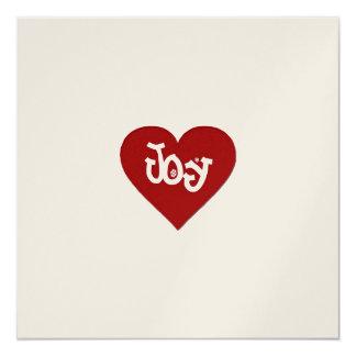 "Joy 5.25"" Square Invitation Card"