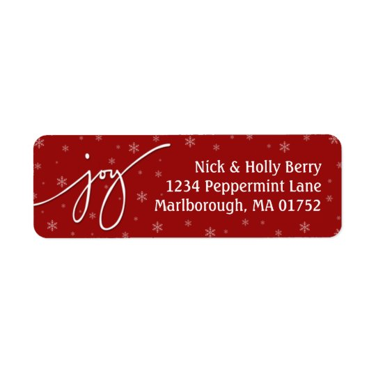 Joy Address Label