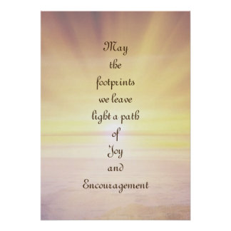 Joy and Encouragement Poster