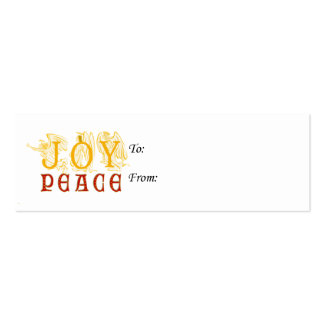 Joy And Peace Gift Tags Business Card Templates