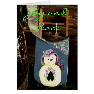 Joy and Peace Greeting Card