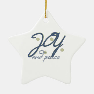 Joy And Peace Ornaments