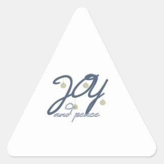Joy And Peace Triangle Sticker