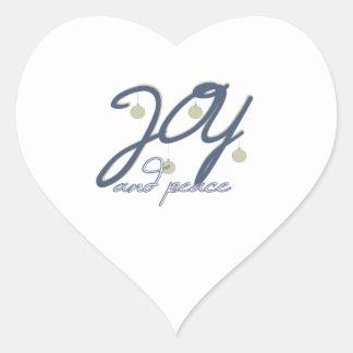 Joy And Peace Heart Sticker