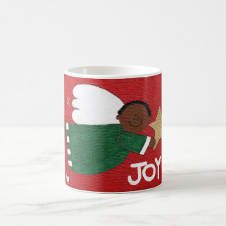 JOY ANGEL Whimsical Christmas Folk Art Classic Mug