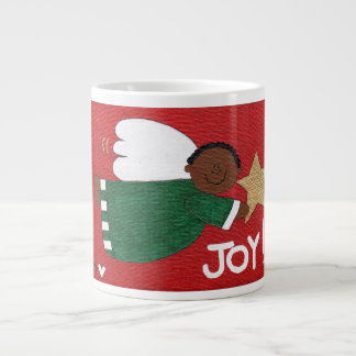 JOY ANGEL Whimsical Christmas Folk Art Jumbo Mug
