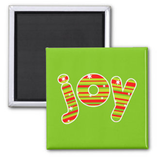 JOY at Christmas, Red & Green Stripes Magnet