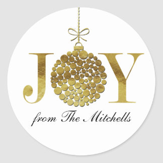 Joy at Christmas Time Classic Round Sticker
