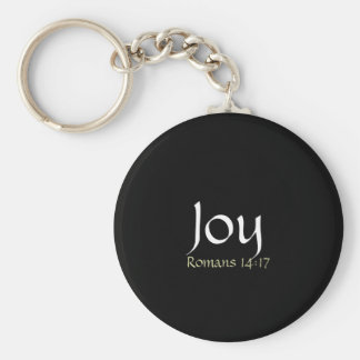 Joy Basic Round Button Keychain