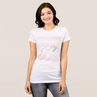 Joy | Beautiful Rose Gold Confetti Dots T-Shirt