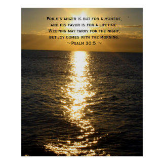 Joy Bible Verse Christian Sunrise quote Poster