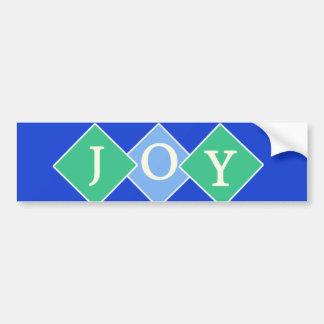 Joy Blue Bumper Sticker Diamonds
