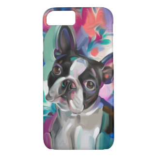 'Joy' Boston Terrier Dog Art Phone case
