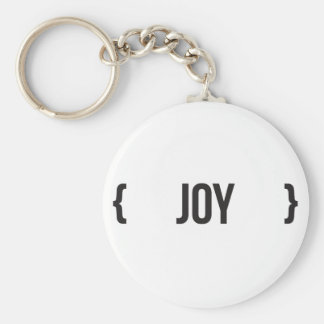 Joy - Bracketed - Black and White Key Chain