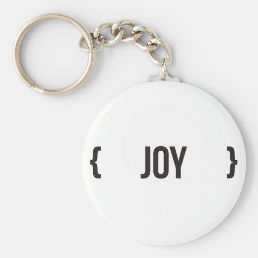 Joy - Bracketed - Black and White Key Chain