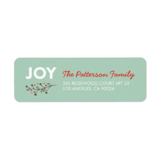 JOY Branch | Modern Holiday Address Labels