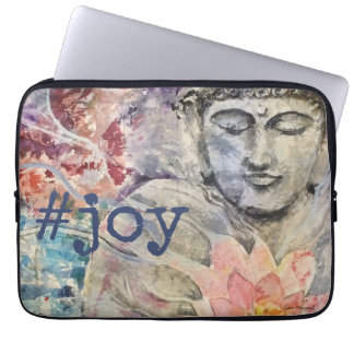 #joy Buddha Watercolor Art Laptop Sleeve