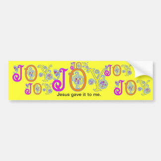 JOY! BUMPER STICKER