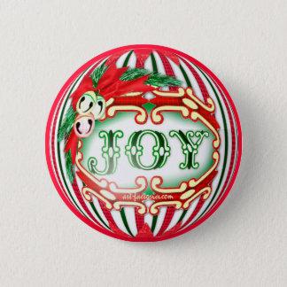 JOY BUTTON CHRISTMAS 1 SMALL BUTTON 2¼ Inch