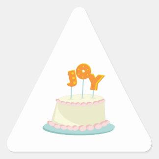 Joy Cake Triangle Sticker